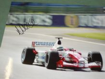 ALLAN McNISH Signed on TOYOTA F1 action photo(10x8)